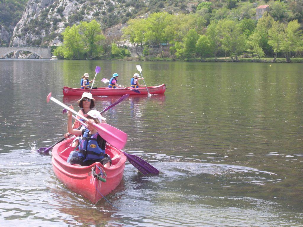 canoe camping les cerisiers luberon