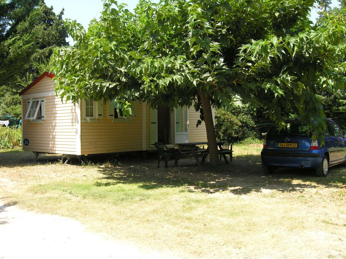Mobil-home Provence luxe Camping les cerisiers