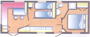 plan mobil-home provence luxe camping les cerisiers luberon